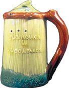 """Кружка """"Напейся, но не облейся"""" - изделие Конаковского фаянсового завода середины ХX века."""