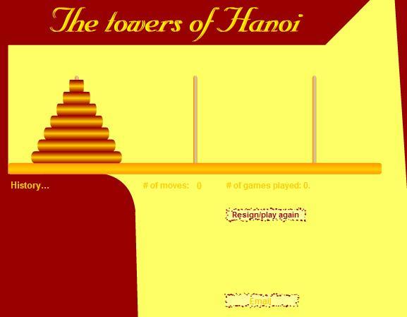 Ханойские башни - онлайн