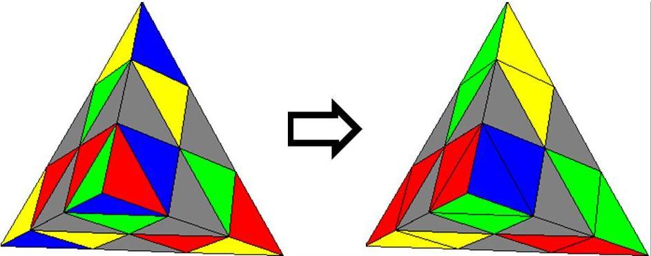Как собрать треугольный рубик схема фото 922